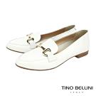 Tino Bellini義大利進口經典馬銜扣樂福鞋_白