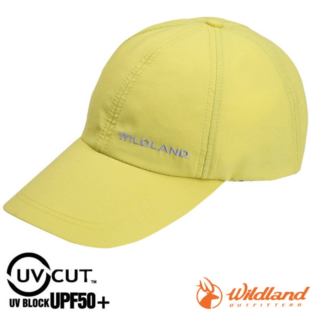 WildLand 新款 中性抗UV透氣棒球帽.防晒遮陽帽.鴨舌帽.休閒帽_檸檬黃