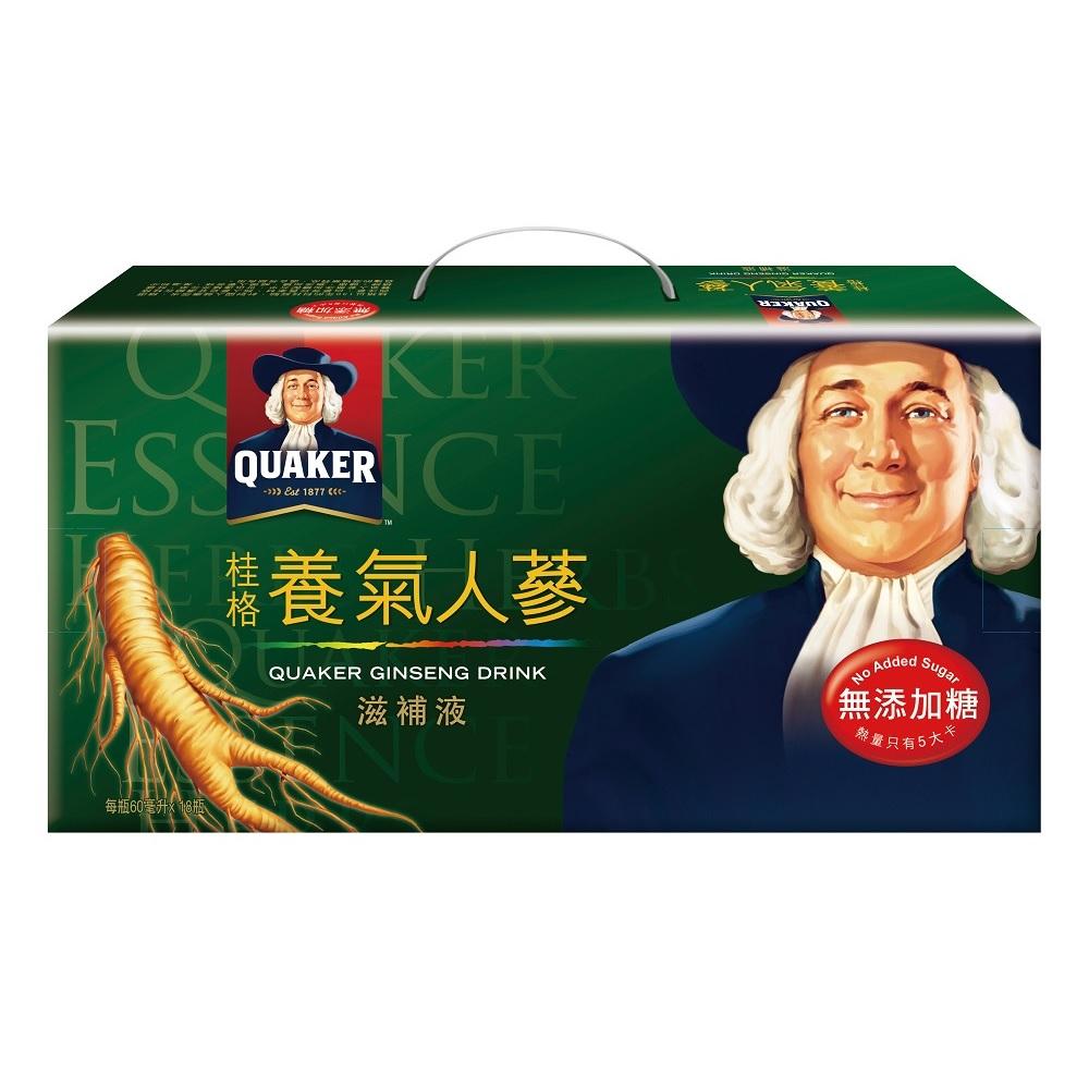 桂格 無糖養氣人蔘滋補液60ml*18入
