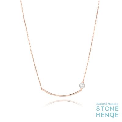STONEHENgE 斯通亨奇 925銀鍍玫瑰金水晶珍珠項鍊
