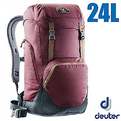 德國 Deuter WALKER 24L 輕量透氣休閒旅遊背包 紫紅/灰