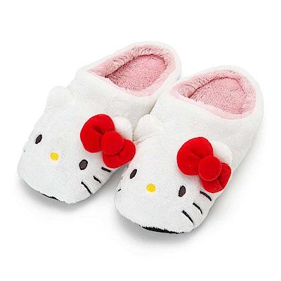 Sanrio HELLO KITTY大臉造型女用絨毛室內拖鞋