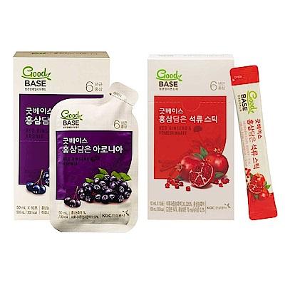 正官庄 高麗蔘野櫻莓飲10入+高麗蔘石榴精華飲-STICK 10入