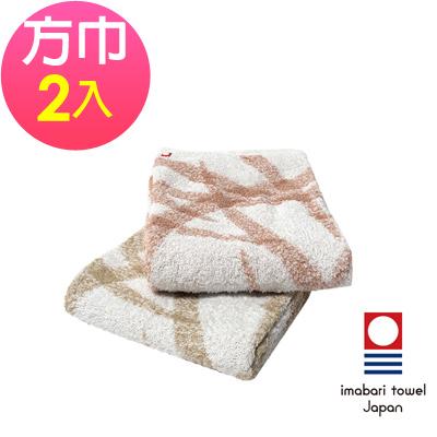 日本今治 純天然有機棉無染色方巾-絲帶(超值2入組)