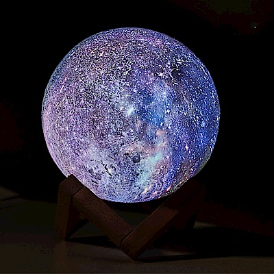 3D星辰星空月球燈 七彩小夜燈/氛圍燈(15cm)