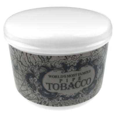 BC-日本進口-陶瓷製煙草保存罐(地圖紋黑色款)