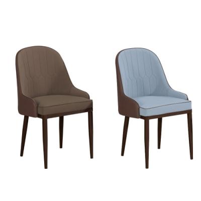 MUNA 漫致棕色皮餐椅/休閒椅(共兩色) 51X61X90cm