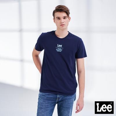 Lee短T 文字小Logo短袖圓領Tee恤 男款 藏藍色