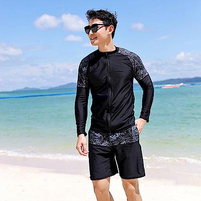 Biki比基尼妮泳衣 明朗拉鍊長袖泳衣沖浪衣浮潛男外套(單外套)