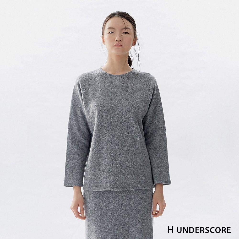 Hang Ten-女裝-休閒寬鬆針織套裝-灰