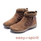 Easy Spirit seVINE 經典菱格壓紋潮流休閒加絨短靴-咖啡色