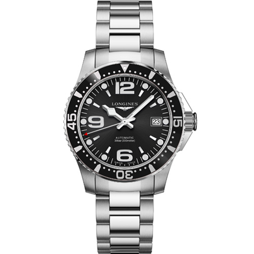 LONGINES 浪琴(L37414566)300米黑面潛水款x39mm