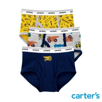 【Carter s】小小工程3件組三角內褲 (2-8)  (台灣總代理)