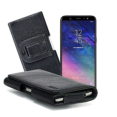 XM for Galaxy A6+/Galaxy A8+  麗緻真皮腰掛皮套