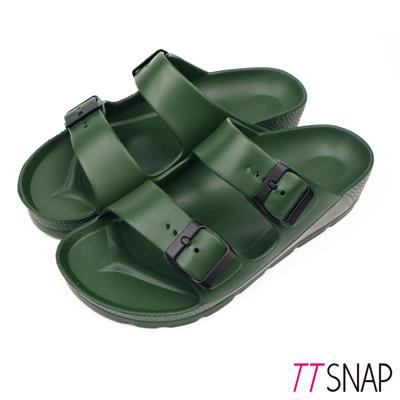 TTSNAP拖鞋-MIT輕量運動休閒拖鞋 深綠