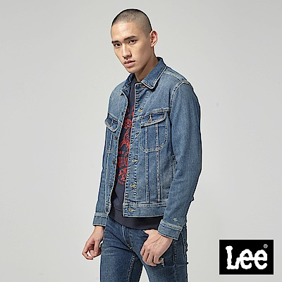 Lee 牛仔外套/中藍色
