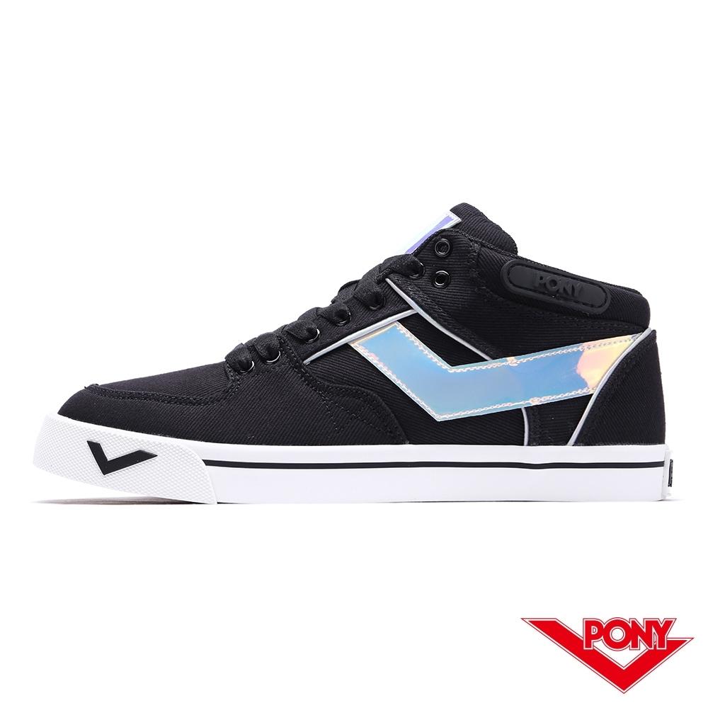 【PONY】ATOP系列滑板鞋-女款-黑/雜色
