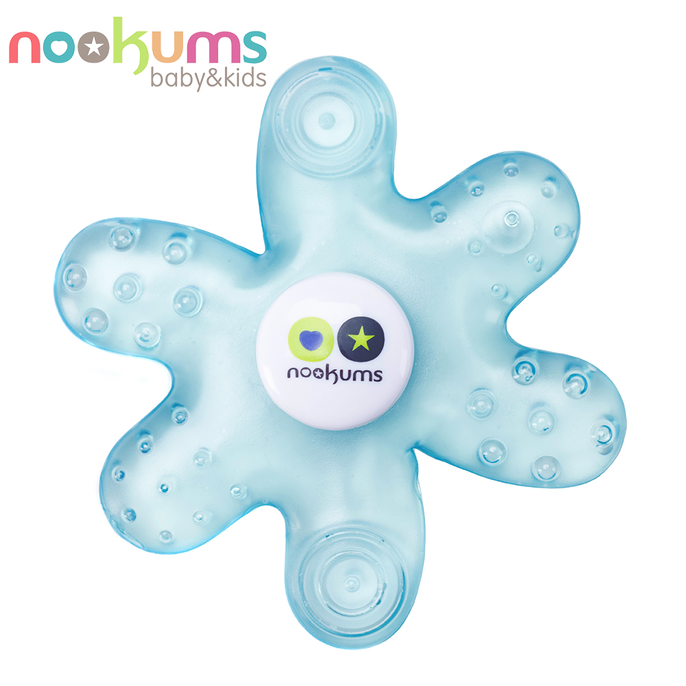 美國 nookums 寶寶可愛造型冷膠固齒器-藍色