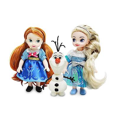 迪士尼公主系列 4吋迷你艾莎安娜娃娃組