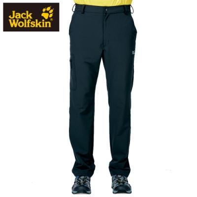 【Jack Wolfskin 飛狼】男 彈性快乾休閒長褲『黑色』