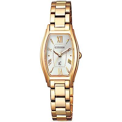 CITIZEN 星辰XC 限量完美電波腕錶-金 EW5542-57A