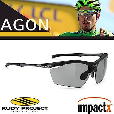Rudy Project Agon 專業防爆偏光變色運動眼鏡_磨砂黑框+灰黑變色片