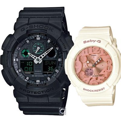 CASIO 時尚穿搭運動對錶-41.2+43.1mm