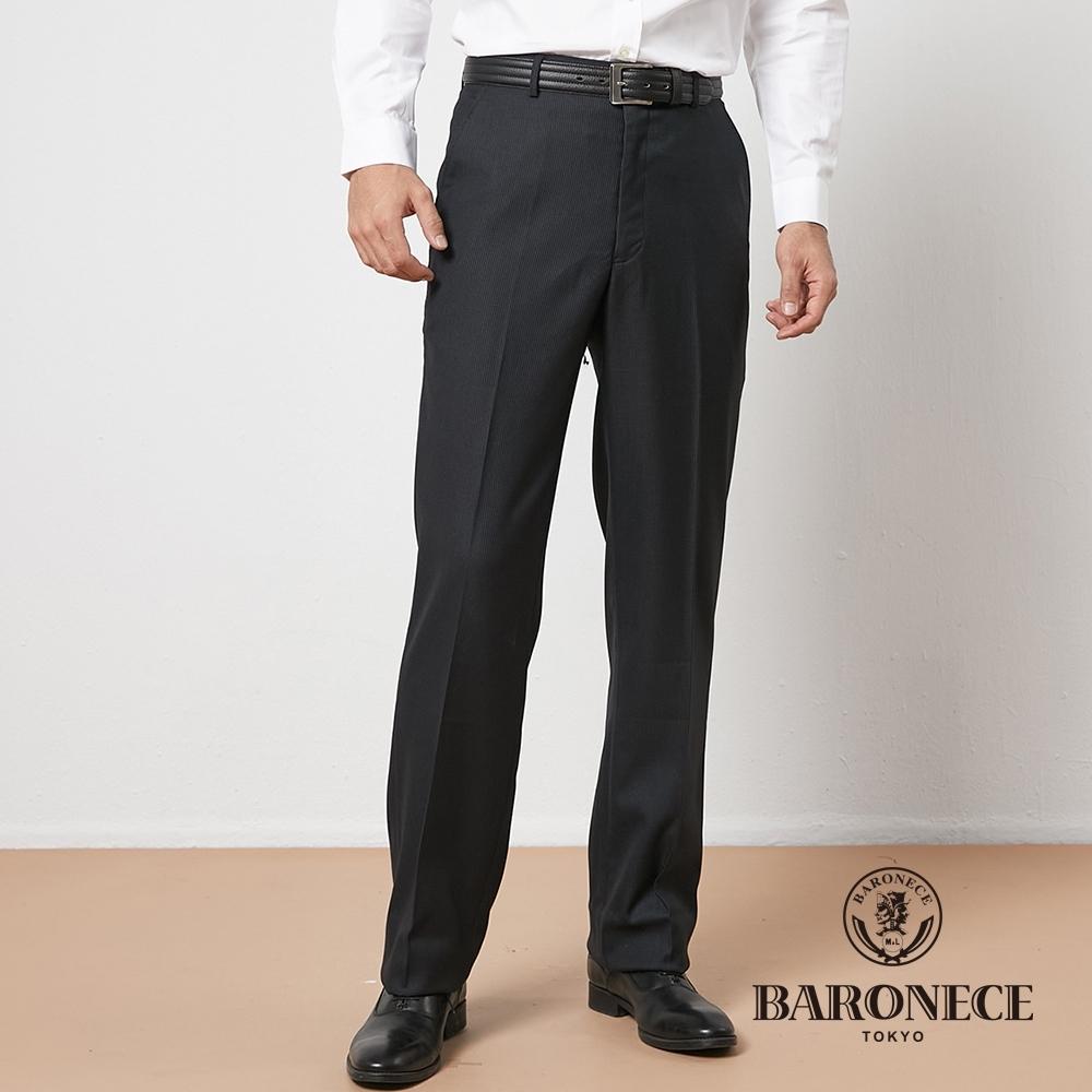 BARONECE 百諾禮士休閒商務  男裝 保暖平口西裝褲--黑色(1176872-97)