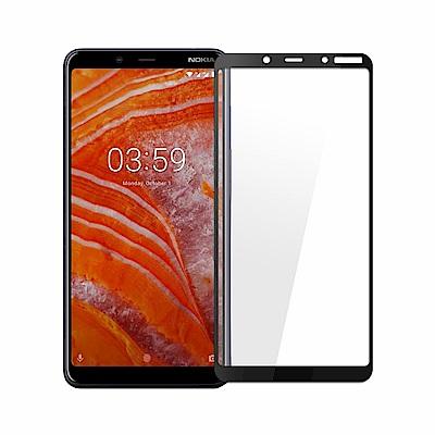 (贈氣囊支架) Nokia 3.1 Plus 全膠滿版9H鋼化日規玻璃保護貼-黑色