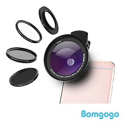 Bomgogo Govision L5 Combo 6合1廣角微距手機鏡頭組(52mm)