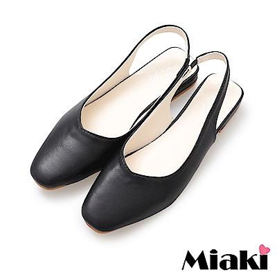 Miaki-包鞋小資穿搭韓系通勤鞋-黑