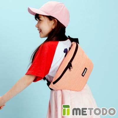 【METODO防盜包】Sling Bag S 不怕割斜背包/休閒腰包TSL-502粉紅