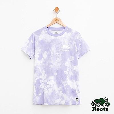 女裝Roots滿版暈染短袖T恤-紫