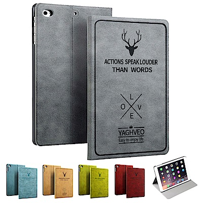 ANTIAN iPad Mini 4  智慧休眠平板電腦皮套 北歐風鹿紋皮套