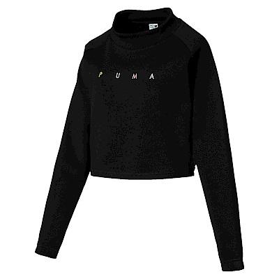 PUMA-女性流行系列Fierce Cat短版圓領衫-黑色-亞規