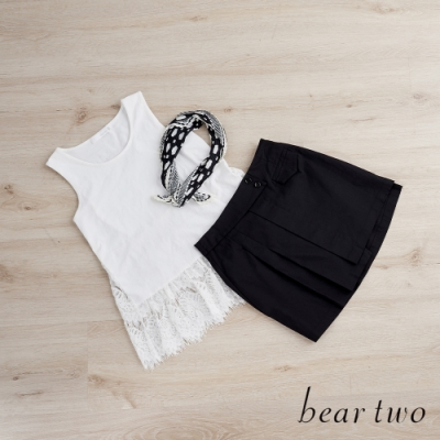 beartwo-下襬蕾絲內搭背心(兩色)