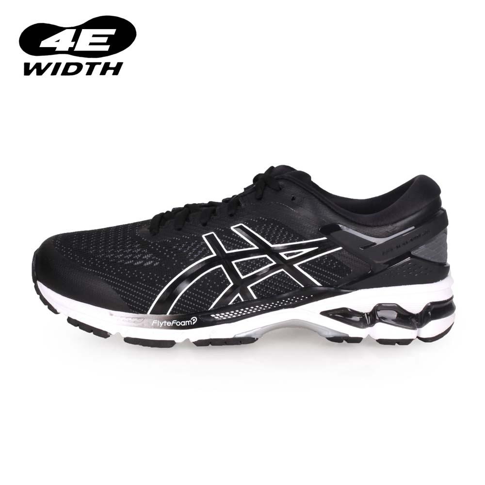 ASICS GEL-KAYANO 26 男慢跑鞋-2E-寬楦 路跑  黑白