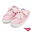 【PONY】TOP STAR皮革時尚休閒懶人穆勒鞋 小白鞋 拖鞋 涼鞋 粉色