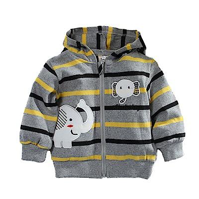 寶寶條紋連帽外套 k60740 魔法Baby