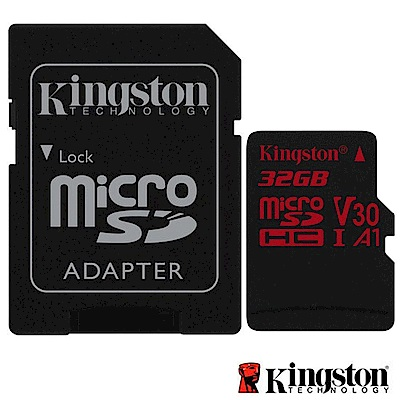 Kingston 金士頓 32G U3 microSDHC V30 A1 記憶卡 SDCR