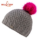 【hilltop山頂鳥】KUSAN手工編織羊毛帽保暖毛帽H41XV0灰