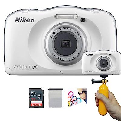 【豪華組】Nikon coolpix W100 防水數位相機 (公司貨)