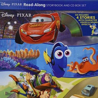 Disney Pixar Read-Along Storybook And CD Box Set CD 迪士尼皮克斯有聲套書(四平裝繪本+一CD)