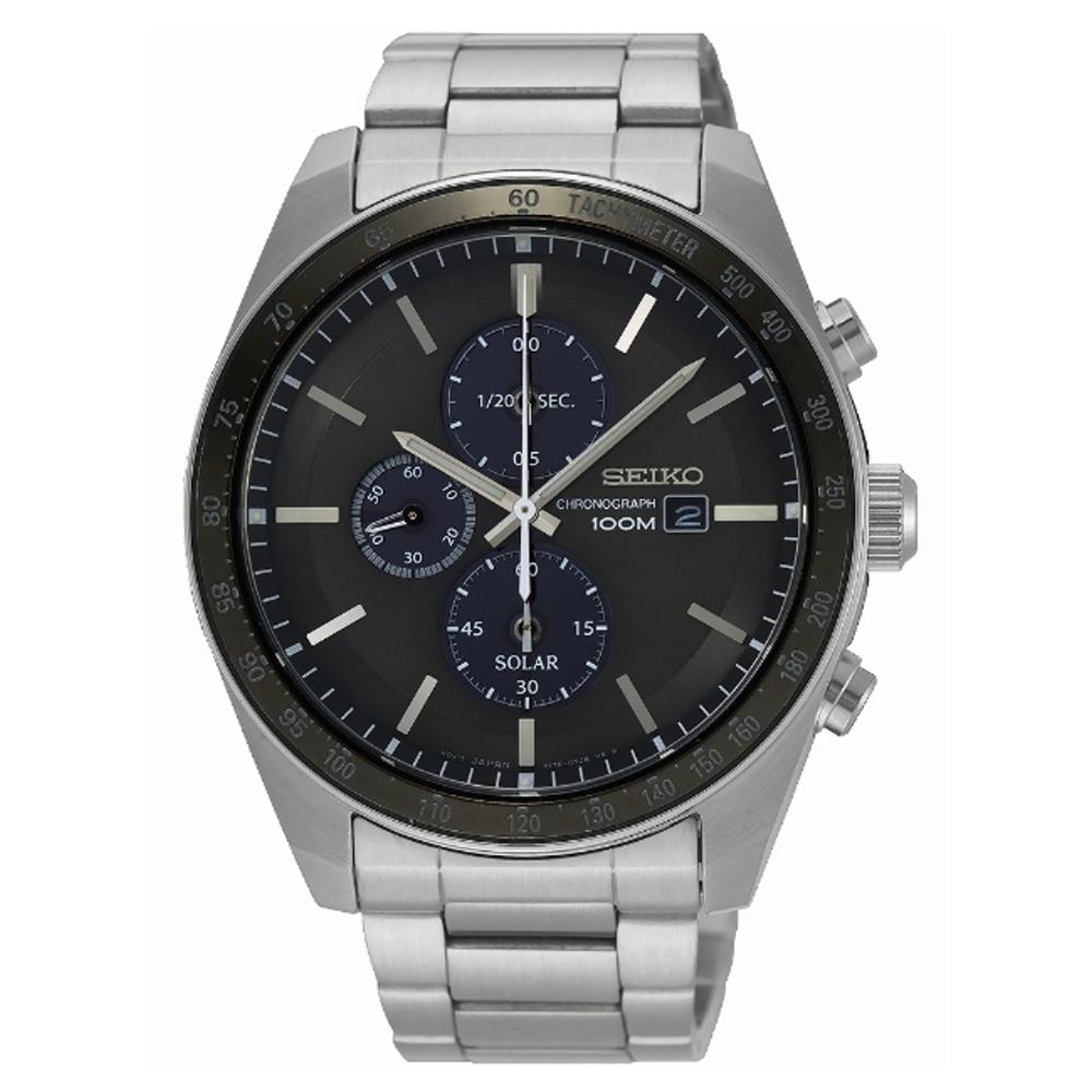 SEIKO Criteria 耀眼時刻三眼太陽能時尚腕錶V176-0AZ0H(SSC725P1)