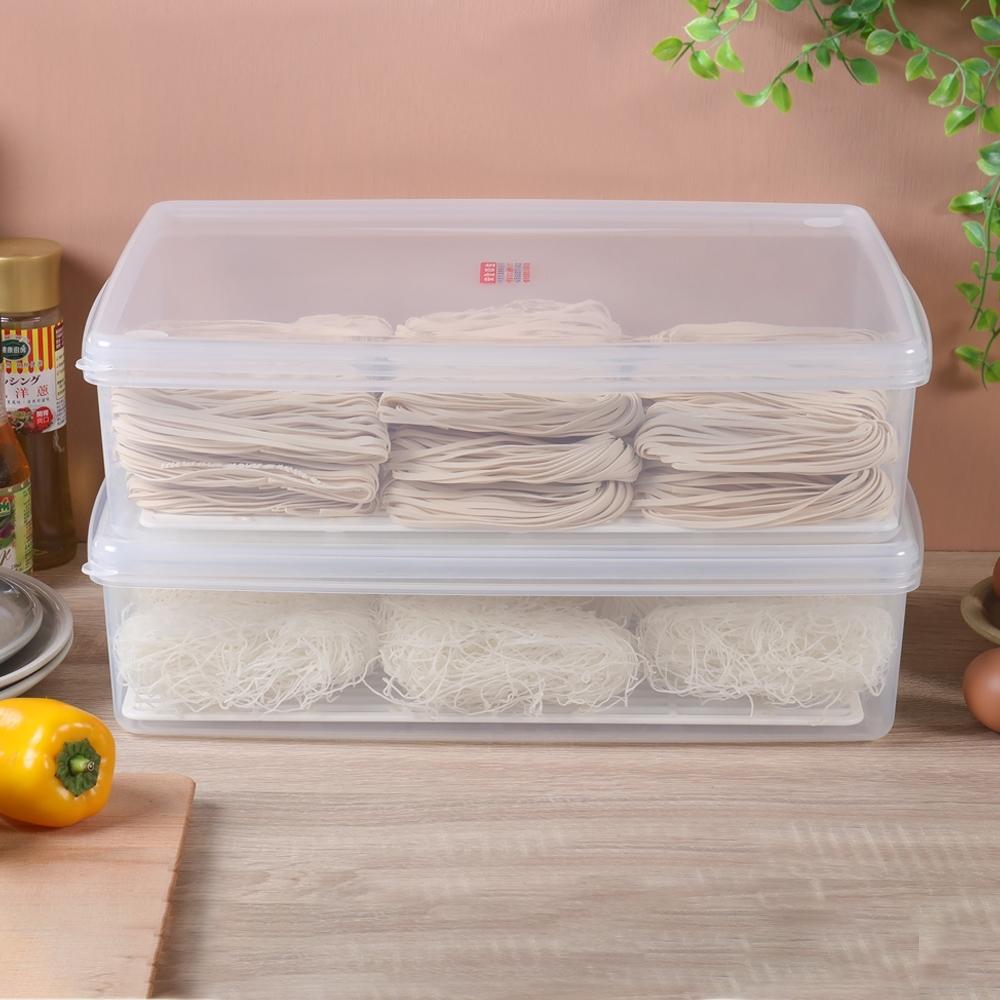 創意達人艾樂扁型保鮮盒10.5L-4入組