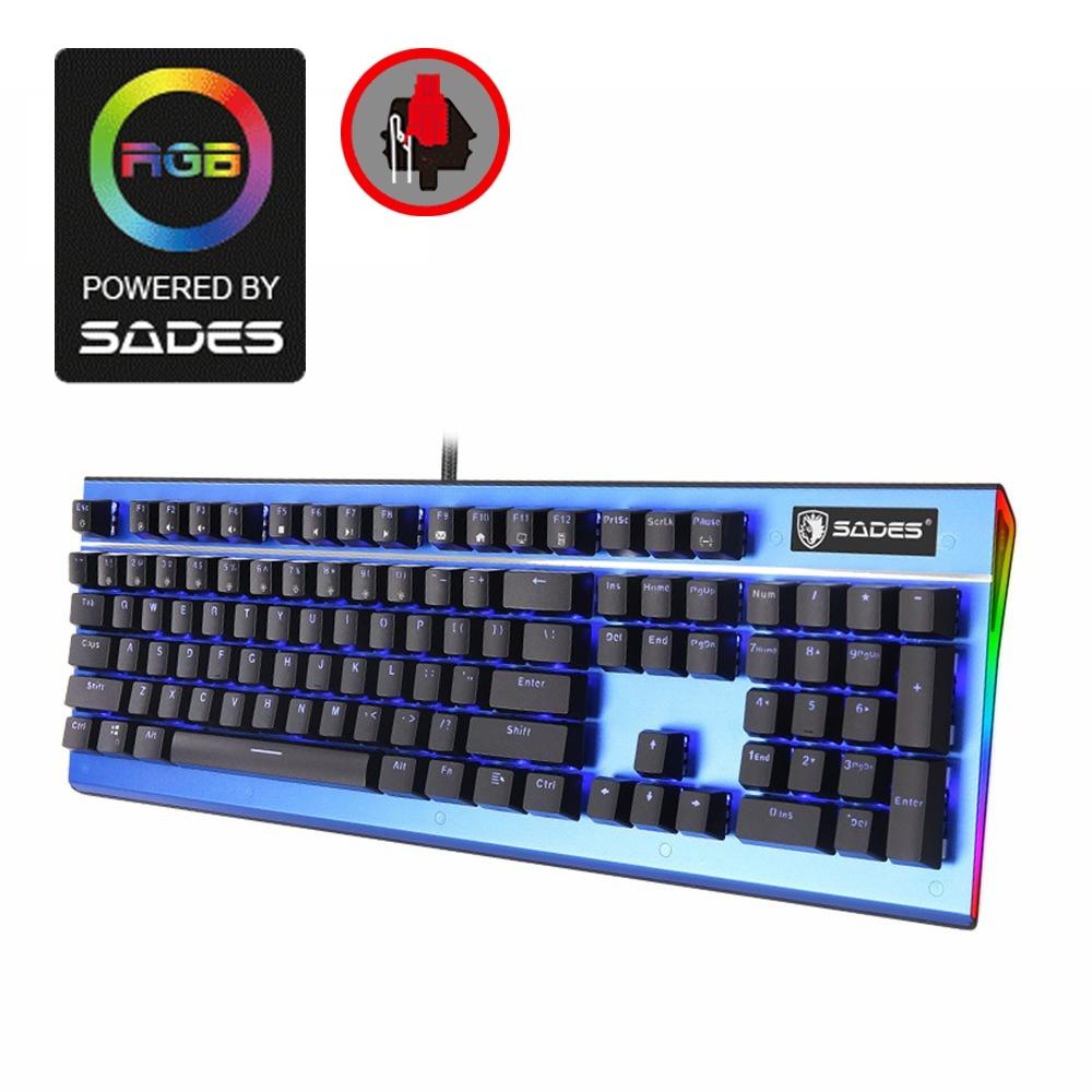 SADES賽德斯 SICKLE 死神鐮刀 藍光側邊RGB機械式電競鍵盤 (紅軸)