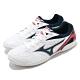 Mizuno 桌球鞋 Crossmatch Plio RX4 男鞋 美津濃 基本款 運動鞋 緩震 透氣 白 藍 81GA183014 product thumbnail 1
