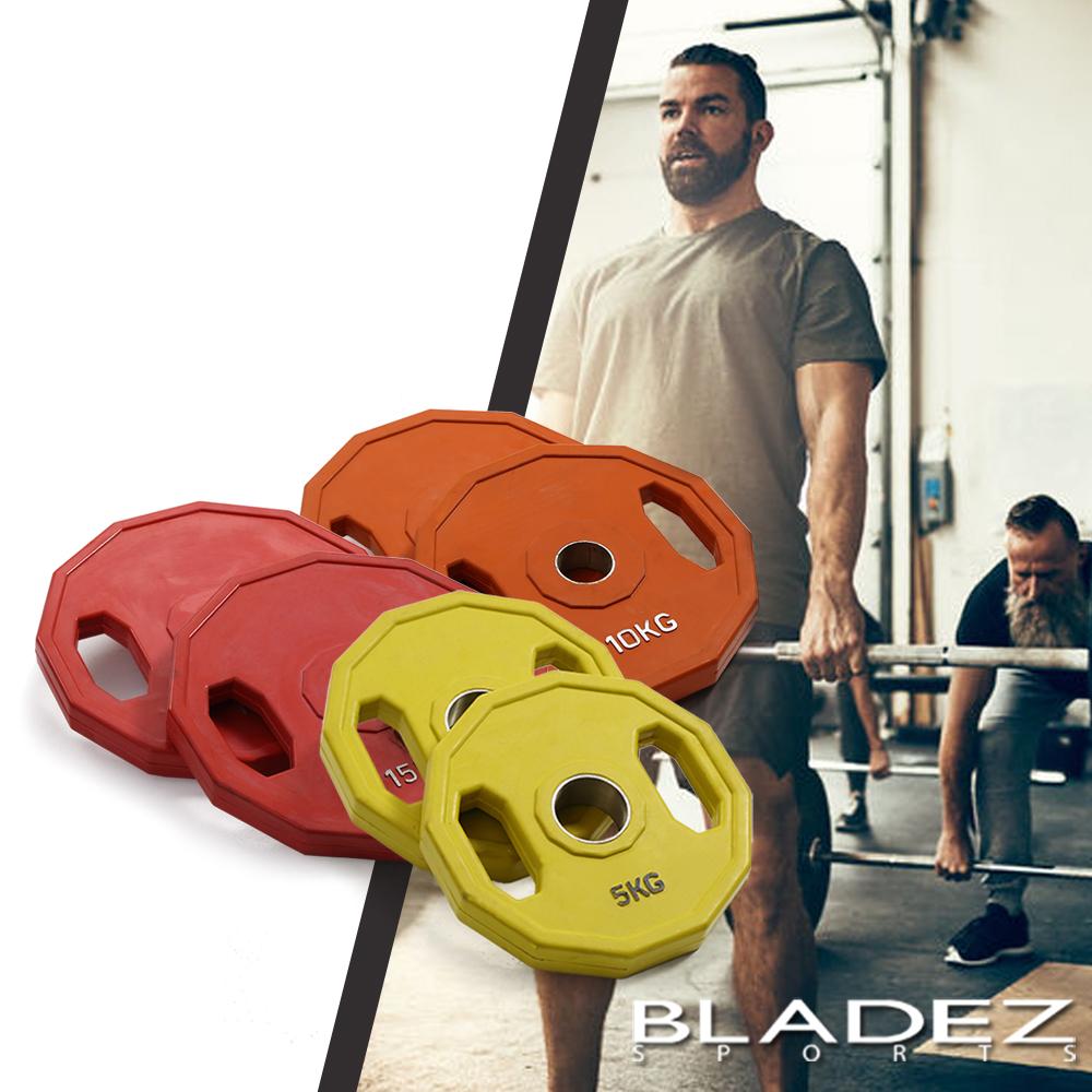 【BLADEZ】奧林匹克槓片60KG重量組合-(5KG-2入/10KG-2入/15KG-2入)