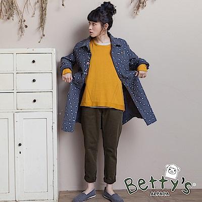 betty's貝蒂思 基本款腰圍鬆緊窄管褲(深綠)