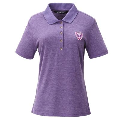 【法國 EiDER】女排汗透氣抗UV短袖POLO衫/ EIT2451紫